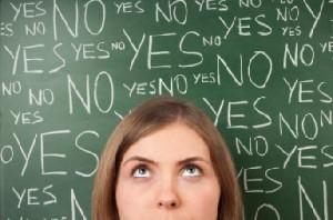 Thinking Woman (saying No)